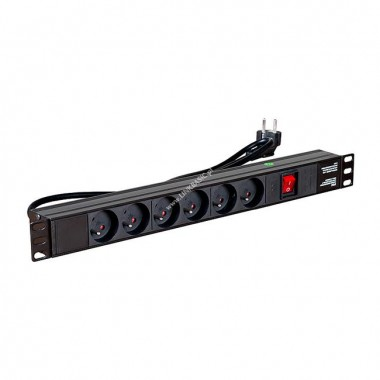 Linkbasic power bar 1U for 19   rack cabinets - 6 outlets(CFU06-F-H1U-2.0)