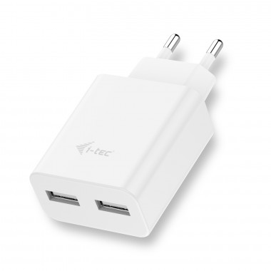 i-tec USB Power Charger 2 Port 2.4A White(CHARGER2A4W)